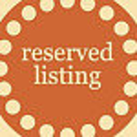 Reserved for adz123    See description