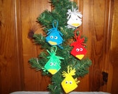 Kissme Birdie Ornaments Set of 5