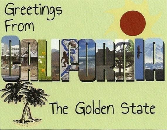 Big Letter California Postcard - Handmade - Large Letter - State Souvenir