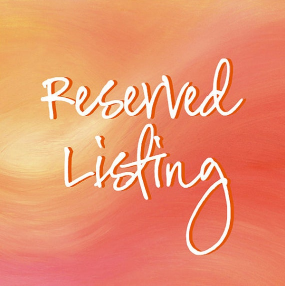 Reserved listing for PurusCandle