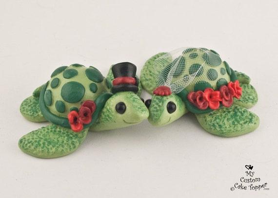 Love Turtles Custom Wedding Cake Topper