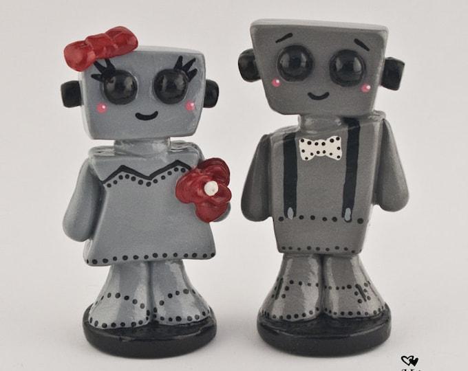 Love Bots Wedding Cake Topper Kawaii