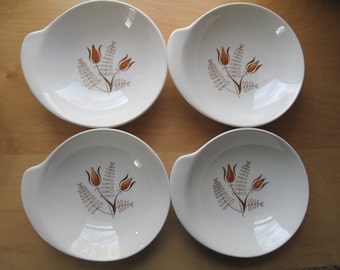 set of four bowls with handle royal china tanglewood