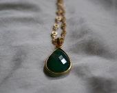 Green Onyx Pendant Necklace