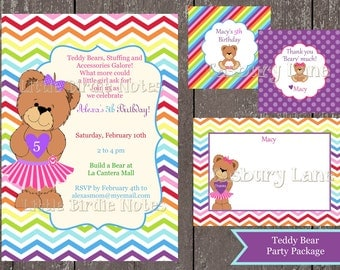 Build a bear invite | Etsy