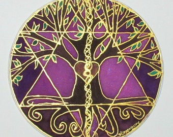 Tree mandala, Tree of Balance,tree of life art,sacred geometry art, spiritual art, meditation art, mandala art, pagan,wiccan,reiki