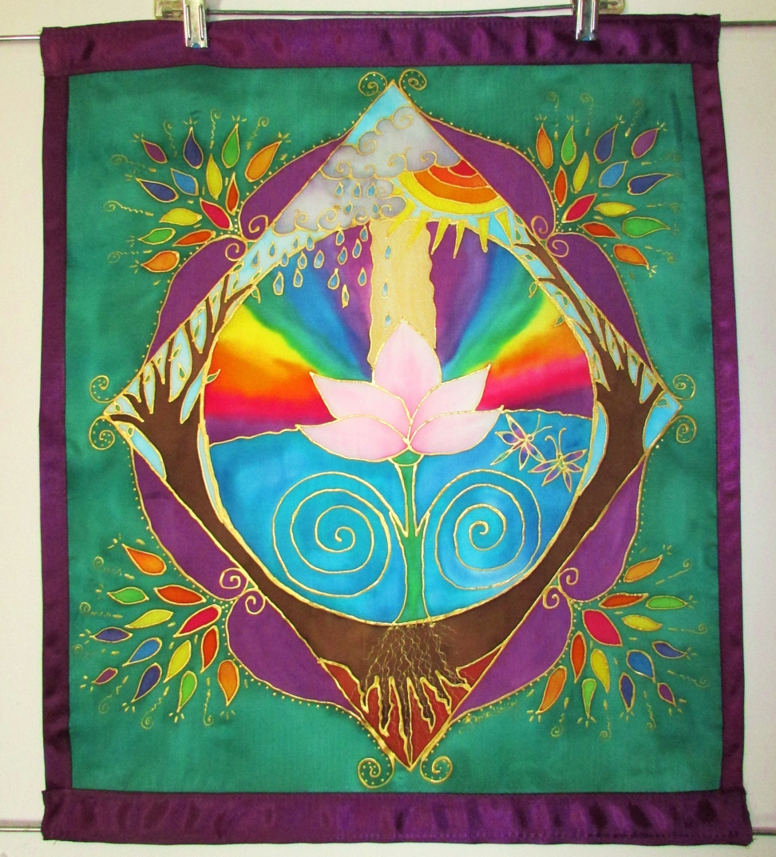Etsy Cosmic Wall Hanging Psychedelic Batik Wall Hanging