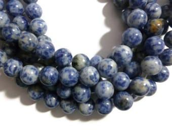 Blue Spot Jasper - 10mm Round - Full Strand - 38 beads