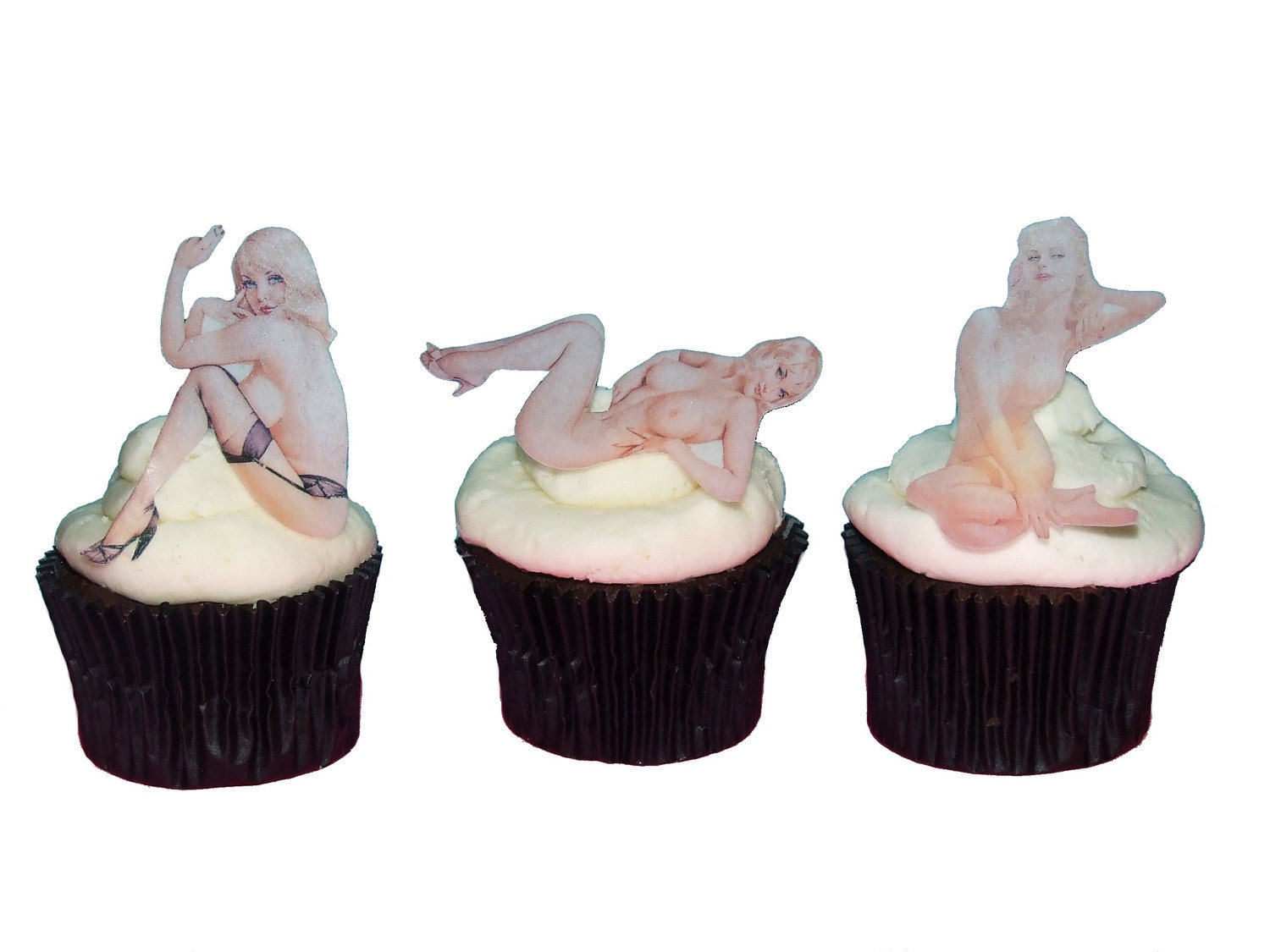 Valentines Day For Him Naked Women Cake Topper Edible-7151