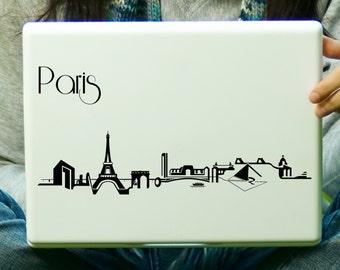 Paris Skyline Sticker Decal Laptop Decal iPad