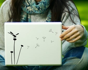 Dandelion & Dragonfly Decal Laptop Decal iPad