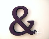 AMPERSAND: Decorative piece lined with vintage fabric