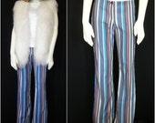 Vintage Striped Velvety 70s-Rocker Pants - It's All Happening