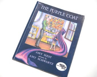 CLEARANCE The Purple Coat: by Amy Hest Vintage Childrens Book Reading Rainbow