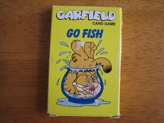 Vintage garfield go fish card game 1978 hong kong by maryworld for Go fish cards