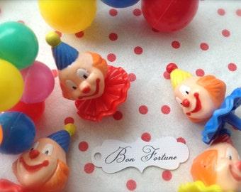 Retro Clown Cupcake Toppers-1 Doz