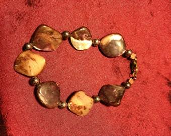 Handmade Brown Mother of Pearl Bracelet