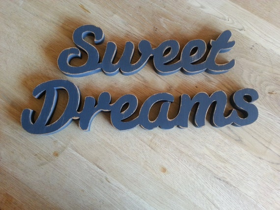 Items similar to free standing wooden letters sweet for Standing wood letters to paint