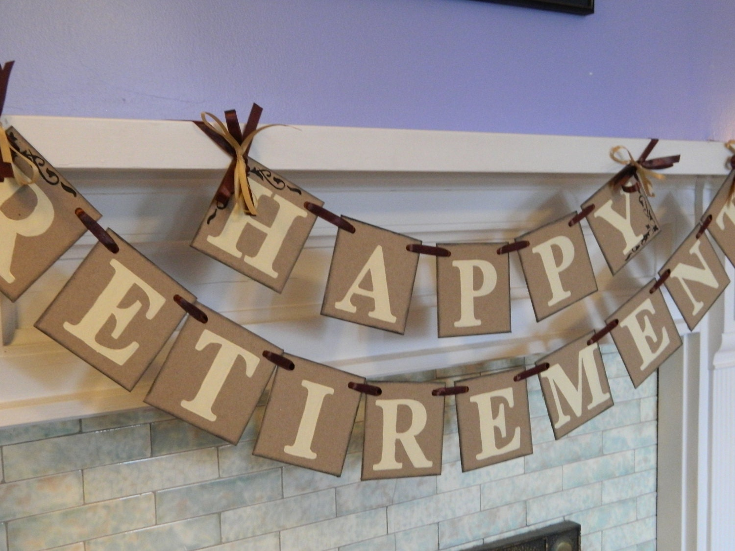 Table Decoration Ideas For Retirement Party centerpiece teachers retirement party Happy Retirement Banner Retirement Party Sign Retirement Party Decorations You Pick The Colors