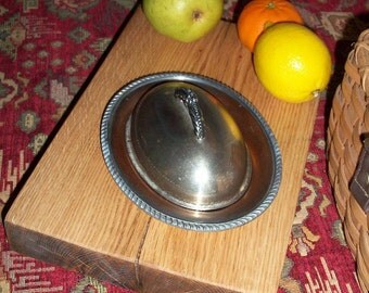 Silver Covered Dish Copper Lining Unmarked Serving
