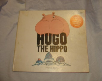Hugo the Hippo by Thomas Baum childrens book vintage old book paperback 1976 70s Scholastic Book Services