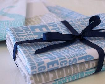 Set of 3 Gastronomy Tea Towels