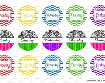 "15 Days of the Week 3 Digital Download for 1"" Bottle Caps (4x6)"