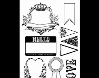 Glitz LOVE GAMES Clear Stamps
