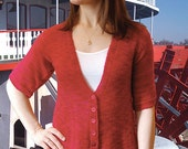 E-Z V-Neck Cardigan to Knit PDF Pattern Instant Download