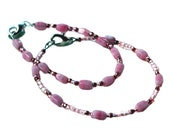 Mother Daughter Bracelet Set,  Pink Beads, Mothers Day Gift