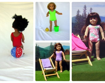 Choose Your Color Classic Swimsuit for Your American Girl Dolls, Similar Dolls and Bitty Baby