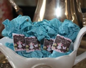 Shabby vintage wrinkle ribbon - Powder Aqua
