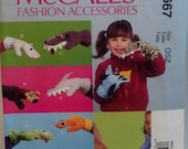McCall's M6667  Children's Animal Shaped Mittens  Puppets New Uncut Pattern Destash