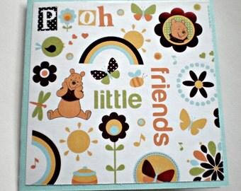 Birthday Card - Pooh, little kids birthday card