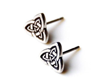 Celtic Knot Stud Earrings - Accessories - Women's Jewelry - Gift Idea - Handmade - Gift Box Included