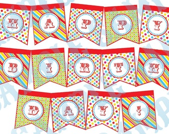Custom Carnival Circus Birthday Party Banner