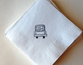Just Married Beverage Napkins / Set of 50 / Perfect for Weddings