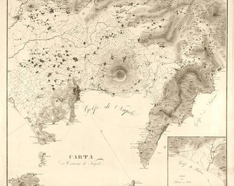 1828 Map of Naples
