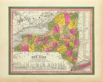 1846 Map of New York