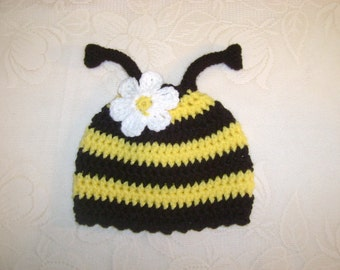 Bumble Bee Crocheted Hat - Photo Prop - Available in Any Size or Color Combination