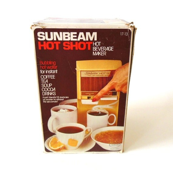 Sunbeam Coffee Maker Red : Sunbeam Hot Shot Coffee / Tea Maker 1970s by LaurasLastDitch