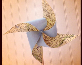 8 Custom Map Pinwheels