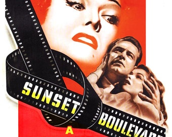 "Sunset Boulevard - Home Theater Decor - Classic Movie Poster Print  -13""x19"" - Vintage Movie Poster - William Holden Gloria Swanson"