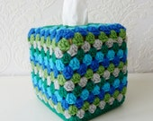 Crochet Tissue Box Cover, Kleenex Tissue Box Cozy - FromJeanne