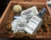 GENTLEMAN Shave & Shower essentials kit by Skin Candy Soap Company  Soap Bar, Shaving Cake, Natural Aftershave Spray n Shaving Brush