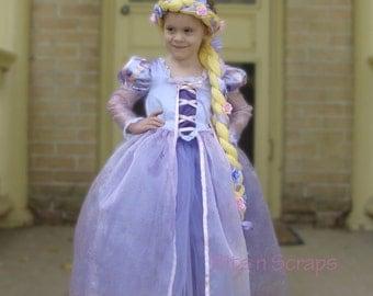 Rapunzel Costume Dress and Braid, Tangled