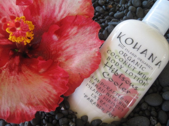 Organic Coconut Milk Body Lotion-Hibiscus Cooler-FREE SHIPPING