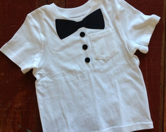 Wanna be formal bow tie T shirt. Ready to ship. Size 2T