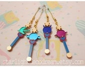 Choose ONE Outer Senshi Lip Rod Phone Strap or Necklace Sailor Moon Inspired Fanart Acrylic for Mahou Kei, Magical Girl Style