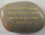 Scripture River Rocks He will give his angels charge Psalms 91:11